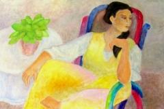 Woman in Colored Rocker