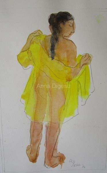 Series Yellow semi transparant robe No. 14